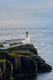 Lovely View of Neist Point Lighthouse and Sea Cliffs Royalty Free Stock Image