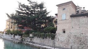 Lovely view. Old Building in Italy beach Royalty Free Stock Photos