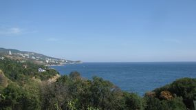 Lovely view of the sea. From the mountains offers a magnificent view of the sea Stock Photo