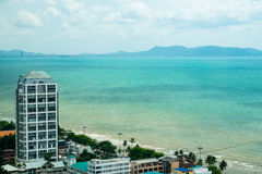 Lovely views of Pattaya Beach stock image