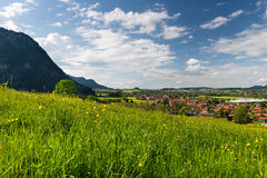Lovely village pfronten in bavaria Royalty Free Stock Photo