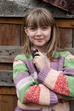 lovely village young girl Stock Images