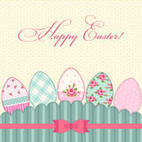 Lovely vintage Easter card with eggs in shabby chic style Stock Photo