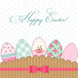 Lovely vintage Easter card with eggs in shabby chic style Royalty Free Stock Photography