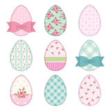 Lovely vintage Easter eggs in shabby chic style Stock Images