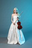 Lovely violinist Stock Photography