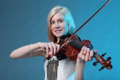 Lovely violinist Royalty Free Stock Images