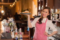 Lovely waitress Stock Photo