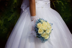 Lovely wedding bouquet with roses Stock Photography