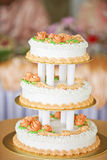 Lovely wedding cake Stock Photos