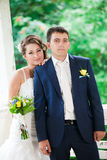 Lovely wedding couple Stock Photos