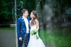 Lovely wedding couple Royalty Free Stock Photos