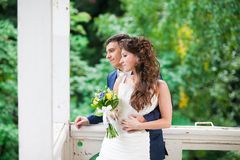 Lovely wedding couple Stock Photography
