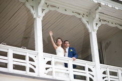Lovely wedding couple Royalty Free Stock Images