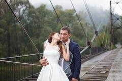 Lovely wedding couple Royalty Free Stock Photo