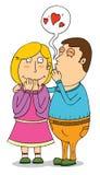 Lovely whisper Royalty Free Stock Images