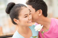 Lovely whispers Stock Images