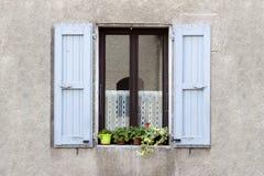 Lovely Window box flower. Arrangement, Sassenage, France Stock Images