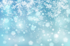 Lovely winter snowfall illustration Royalty Free Stock Photos