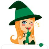 Halloween Witch winking Stock Images