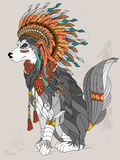 Lovely wolf coloring page Royalty Free Stock Image