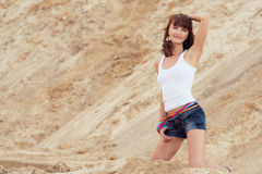 Lovely woman on beach Royalty Free Stock Image