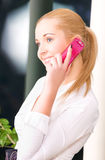 Lovely woman with cell phone Stock Photography