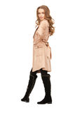 Lovely woman in coat royalty free stock images