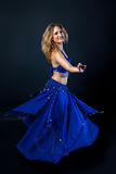 Lovely woman dancing belly dance Royalty Free Stock Photos