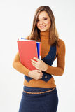 Lovely woman with documents and folders Royalty Free Stock Photos