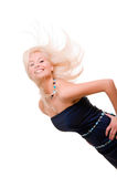 Lovely woman in dress over white background Stock Photography