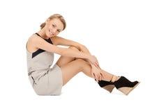 Lovely woman in elegant dress Royalty Free Stock Image