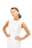 Lovely woman in elegant dress Stock Image
