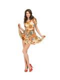 Lovely woman in elegant dress Stock Images