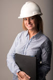 Lovely woman engineer Royalty Free Stock Image