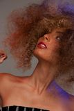 Lovely woman with fasionable hair Stock Photography
