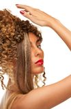 Lovely woman with fasionable hair Royalty Free Stock Photography