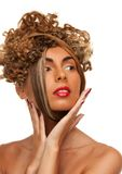 Lovely woman with fasionable hair Royalty Free Stock Photo