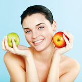 Lovely woman with fruit Stock Photo
