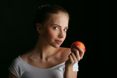Lovely woman with fruit Royalty Free Stock Images