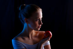 Lovely woman with fruit Royalty Free Stock Photography