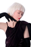 Lovely woman in gloves Royalty Free Stock Photography