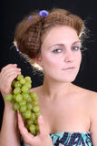 Lovely woman with grape Stock Photo