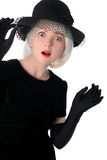 Lovely woman in hat Stock Image