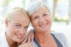 Lovely woman with her mother Royalty Free Stock Images
