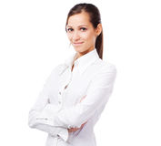 Lovely Woman In White Shirt Stock Photos
