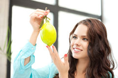 Lovely woman with lemon Stock Photo