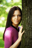 Lovely woman in pink dress Royalty Free Stock Photo