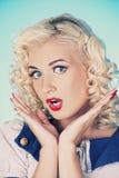 Lovely woman retro portrait Stock Images