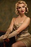 Lovely woman retro portrait. Stock Images